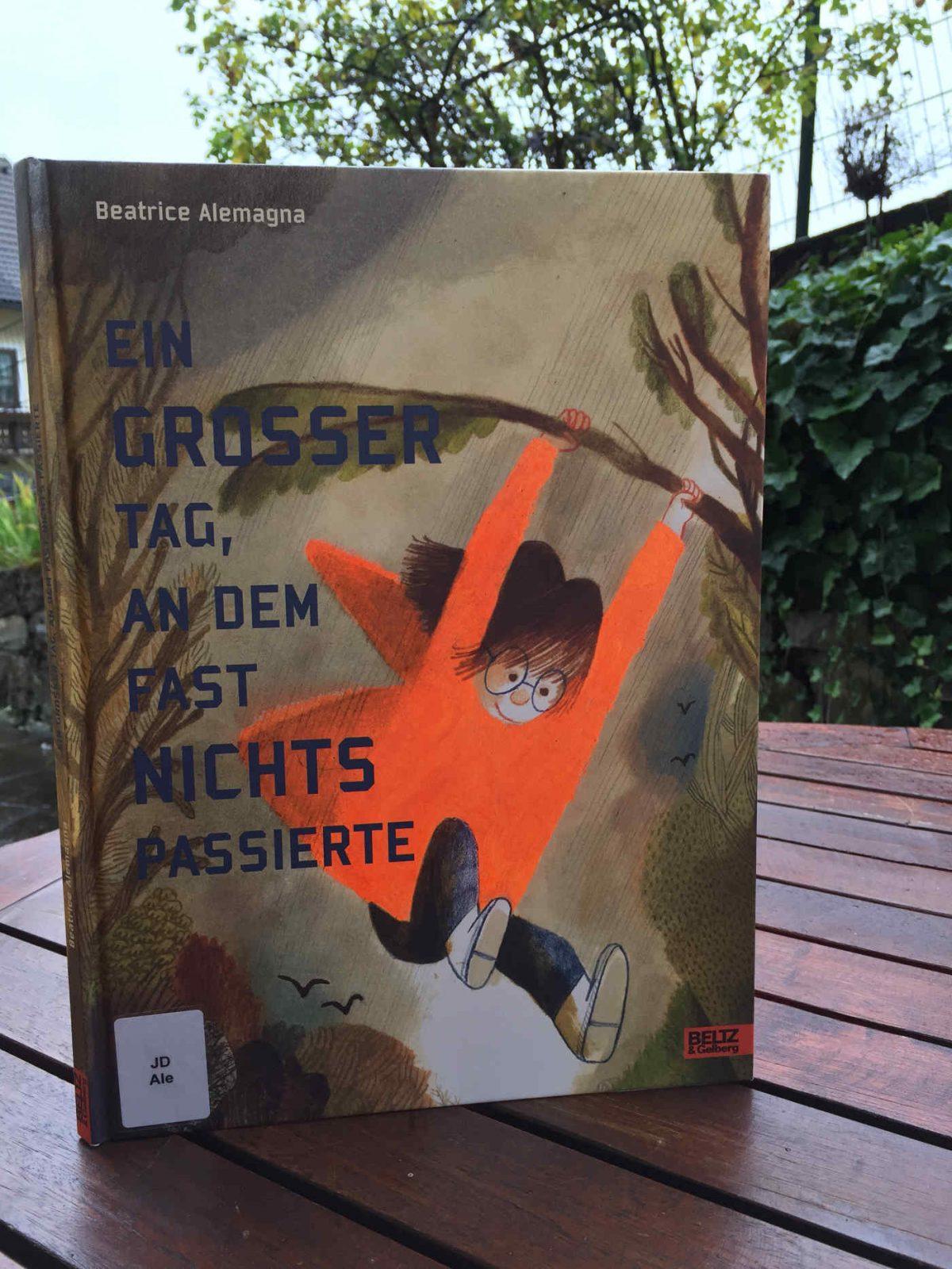 Beatrice Alemagna Ein grosser Tag, an dem fast nichts passierte großer Brigitte Wallingers Kinderbuchblog Bilderbuchtipp Buchempfehlung für Kinder geniales Buch