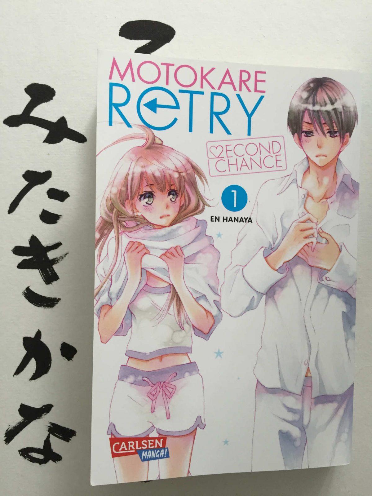 En Hanaya Motokare Retry Second Chance 1 Cover En Hanaya Motokare Retry Second Chance 1 Manga empfehlung jugendliche buchtipp Jugendbuchblog Brigitte Wallinger